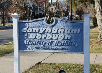 conyngham borough sign